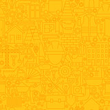 Thin Yellow Construction Line Seamless Pattern