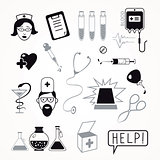 Health care and medicine icon set