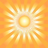 Background with sun and rays