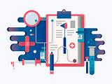 Doctor tools design flat