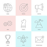 Start up outline icons