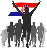 Athlete With The Croatia