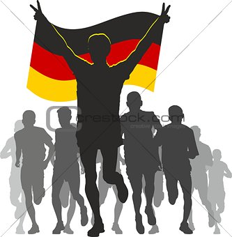 Athlete with the Germany flag