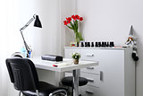 Working space for manicure with chear