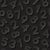 Seamless pattern with numbers. Vector illustration.