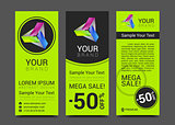 vector abstract bright business card banner design templates