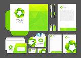 Corporate identity design vector Sign symbol leaves