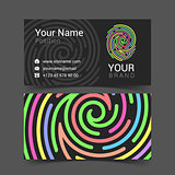 fingerprint logo template icon design elements business card