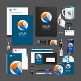 corporate identity creative color template design, business.