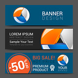 creative banner set with lines logo blank