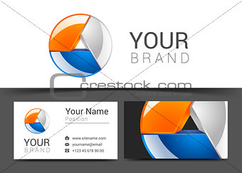 business card creative design template Corporate Identity logo