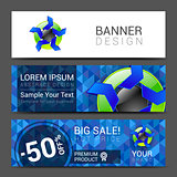 set of horizontal banners for your business logo background, banner
