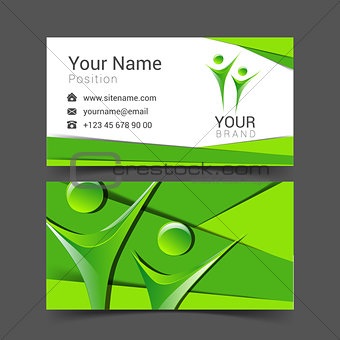 business card for your business in the material design people logo