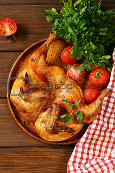 grilled whole chicken with herbs and spices