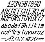 Chopped bold, italic font