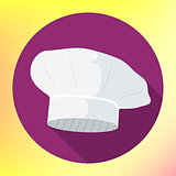 chef vector hat flat icon