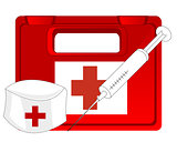 Box with medicine