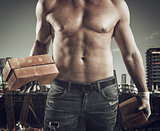 Sexy bricklayer