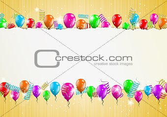backgroud with balloons and torn paper