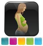 Icons with pregnant woman