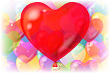 Valentine Background with Balloons