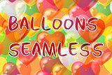 Balloons Hearts Seamless Background