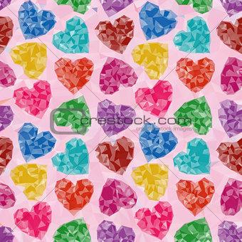 Valentine Background Low Poly