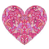 colorful heart on white background