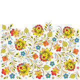 traditional russian floral  pattern.