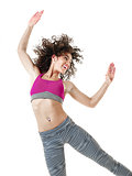 woman dancer dancing fitness exercises