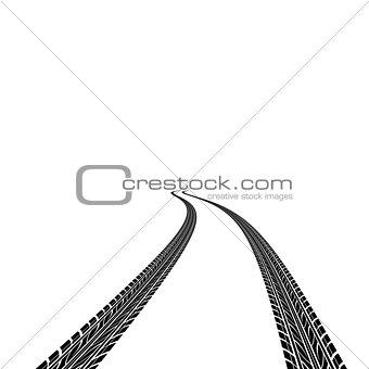 car tire prints a vector illustration