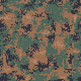 Digital Woodland Camouflage Seamless Pattern