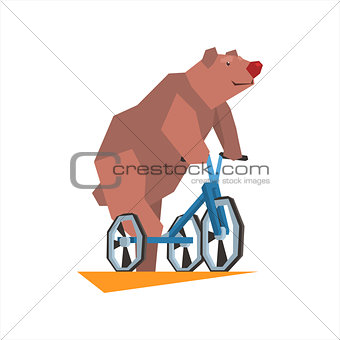 Circus Bear Riding Tricycle