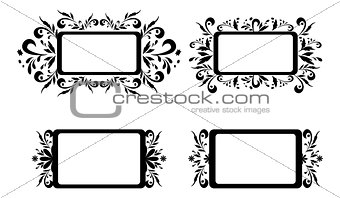 Backgrounds with floral pattern, silhouette