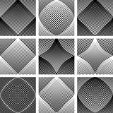 Meshy patterns. Convex and concave optical effect.