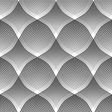 Seamless pattern. Convex and concave optical effect.