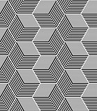 Seamless op art hexagons pattern.