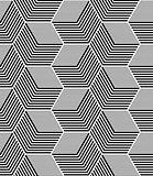 Seamless op art hexagons pattern.