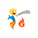 Pyrophobia Vector Illustration