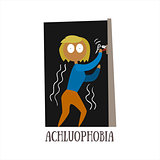 Achluophobia Vector Illustration