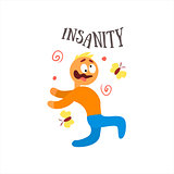 Insanity Vector Illustration