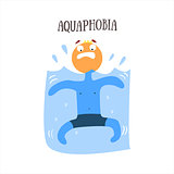 Aquaphobia Vector Illustration