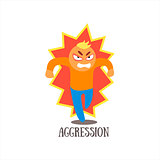 Aggression Vector Illustration