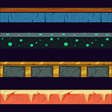 Alien Planet Platformer Level Floor Design Set