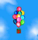 sky and balloons gift