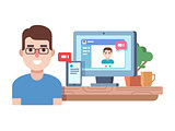 Online chat technology
