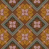 Knitted Seamless Pattern mainly in brown hues