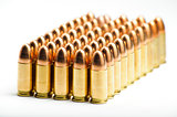 9mm bullets in a row