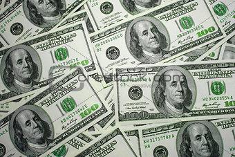 money $ 100 the background texture