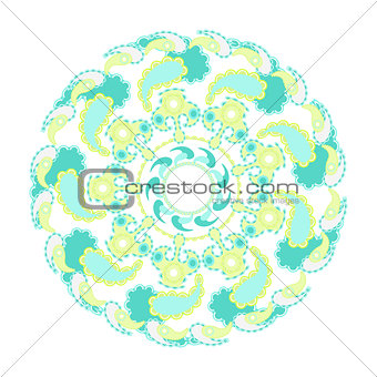 circular pattern vector illustration on a white background 3